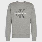 CK Jeans Men's Iconic Monogram Sweatshirt - Mid Grey Heather
