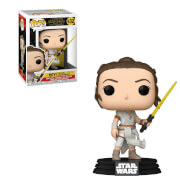 Star Wars The Rise of Skywalker Rey w/ Yellow Lightsaber Funko Pop Vinyl
