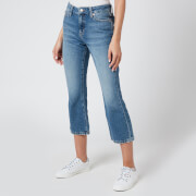Tommy Jeans Women's Crop Flare Jeans - Sunday Mid BL Rig
