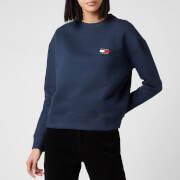 Tommy Jeans Women's Tommy Badge Crew Neck Sweatshirt - Black Iris