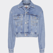 Tommy Jeans Women's Cropped Trucker Jacket - Tommy Flag/Light Blue