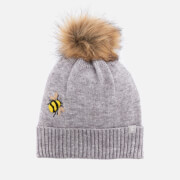 Joules Women's Stafford Hat - Grey Embroidered Bee