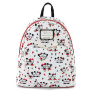 Loungefly Disney Mickey and Minnie Mouse Heart Aop Mini Backpack