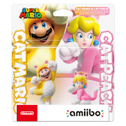 Cat Mario and Cat Peach Double Pack amiibo (Super Mario Collection)