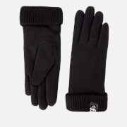 Karl Lagerfeld Women's K/Ikonik Pin Knit Gloves - Black