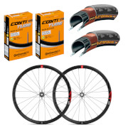 Fulcrum Racing 4 Disc Brake Wheelset & Continental Gatorskin Tyre & Tube Bundle - Shimano