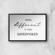 in homeware x Charlotte Greedy Being Different Is Your Superpower Giclee Art Print