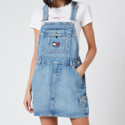 Tommy Jeans Women's Dungaree Dress - Light Blue