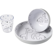 Done by Deer Yummy Mini Dinner Set - Dreamy Dots - Grey