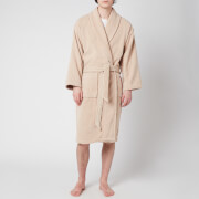 Christy Supreme Velour Cotton Dressing Gown - Stone