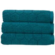 Christy Honeycomb Bath Towel - Set of 2 - Peacock