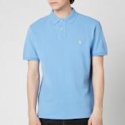 Polo Ralph Lauren Men's Mesh Knit Slim Fit Polo Shirt - Cabana Blue