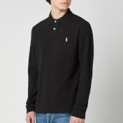 Polo Ralph Lauren Men's Basic Mesh Long Sleeve Polo Shirt - Black Marl Heather