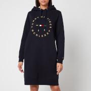 Tommy Hilfiger Women's Circle Relaxed Hoodie Dress - Desert Sky