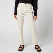 Calvin Klein Jeans Women's High Rise Straight Ankle Jeans - Denim Light