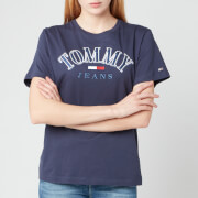 Tommy Jeans Women's TJW Relaxed College Logo T-Shirt - Twilight Navy