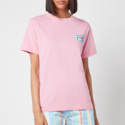 Tommy Jeans Women's TJW Relaxed Painted Flag T-Shirt - Pink Daisy