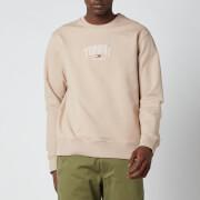 Tommy Jeans Men's Lightweight Logo Crewneck Sweatshirt - Soft Beige