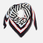 Tommy Hilfiger Women's TH Stripe Square Scarf - Corporate