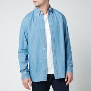 Tommy Hilfiger Men's Light Denim Shirt - Light Indigo
