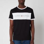 Tommy Hilfiger Men's Flag Logo Crewneck T-Shirt - Black
