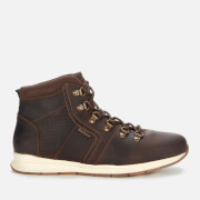 Barbour Men's Mills Leather Hiking Style Boots - Dark Brown
