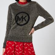 MICHAEL Michael Kors Women's MK Metallic Sweater - Black/Gold