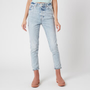 Free People Women's Zuri Mom Jeans - Lived In Blue