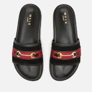 Walk London Men's Ronny Trim Slide Sandals - Black