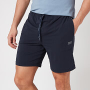 BOSS Loungewear Men's Mix&Match Shorts with Contrast Waistband - Dark Blue