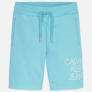 Calvin Klein Jeans Boy's Hybrid Logo Jogger Shorts - Bright Sky