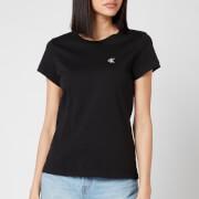 Calvin Klein Jeans Women's Embroidered Logo Slim T-Shirt - CK Black