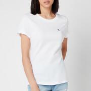 Calvin Klein Jeans Women's Embroidered Logo Slim T-Shirt - Bright White
