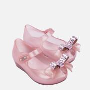 Mini Melissa Toddlers' Mini Ultragirl Stars Ballet Flats - Pink Dust Bow