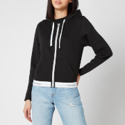 Calvin Klein Women's Modern Cotton Zipped Hoodie - Black