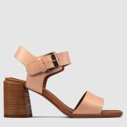 Clarks Women's Landra70 Strap Leather Heeled Sandals - Pale Pink