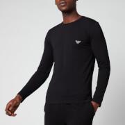 Emporio Armani Men's Shiny Logoband Longsleeve T-Shirt - Black