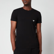 Emporio Armani Men's Big Eagle Crew Neck T-Shirt - Black