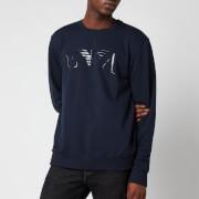 Emporio Armani Men's Iconic Terry Crew Neck Sweatshirt - Blue