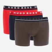 BOSS Bodywear Men's 3-Pack Boxer Briefs - Navy/Grey/Red