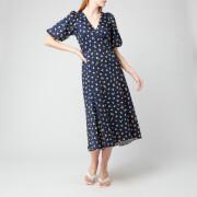 Kate Spade New York Women's Garden Ditsy Wrap Dress - Squid Ink