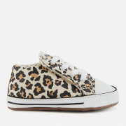 Converse Babies' Chuck Taylor All Star Cribster Animal Print Soft Trainers - Black/Driftwood