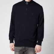 Barbour Men's Tain 1/4 Zip Jumper - Navy