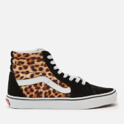 Vans Women's Leopard Sk8 Hi-Top Trainers - Black/True White