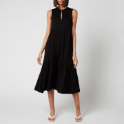 Whistles Women's Tiered Jersey Dress - Black