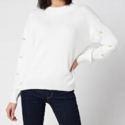 Barbour International Women's Drifting Knitted Jumper - Off White