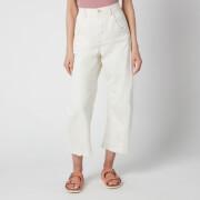 Free People Women's Extreme Barrel Jeans - Ecru