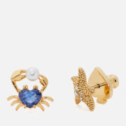 Kate Spade New York Women's Starfish and Crab Studs - Blue/Gold