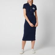 Polo Ralph Lauren Women's Short Sleeve Polo Midi Dress - Cruise Navy