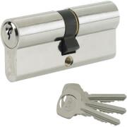 Yale Standard Euro Double Cylinder - 30:10:30 (70mm) - Nickel Finish